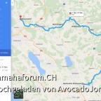 Ungefähre anschliessende Route (1. Teil)